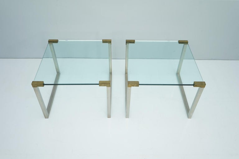 Pair of T53 side tables by Peter Ghyczy, circa 1970s.