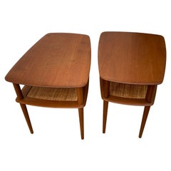 Pair of Peter Hvidt Teak Side Tables