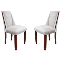 Pair of Petit Art Deco Side Chairs