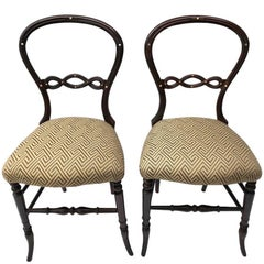 Pair of Petit English Side Chairs