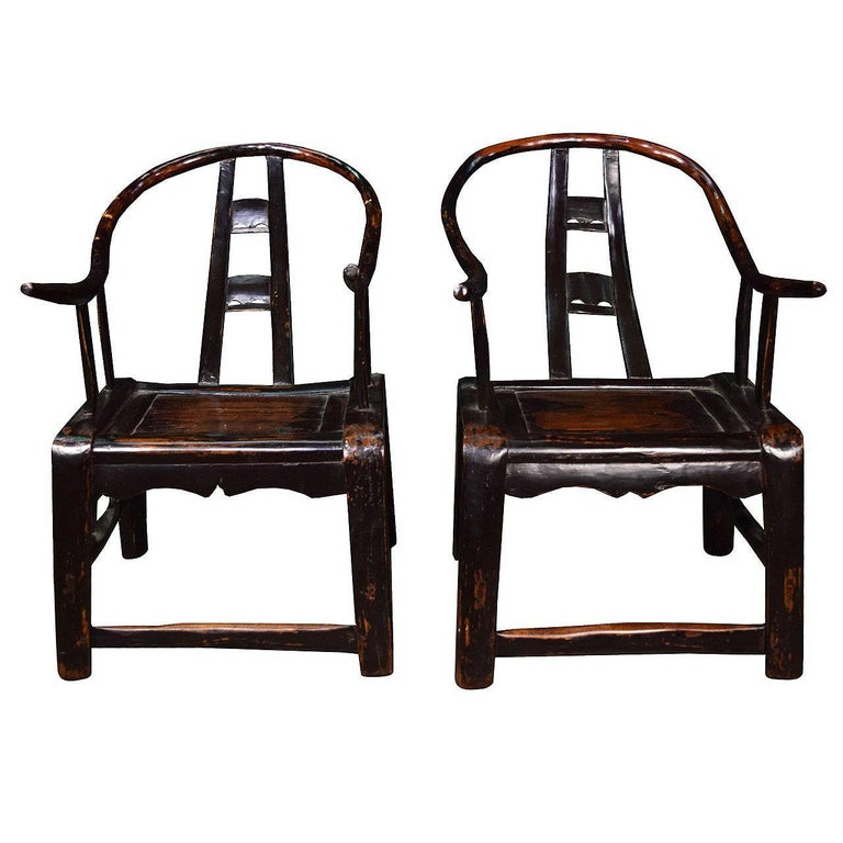 Pair of Petite 19th Century Chinese Chairs