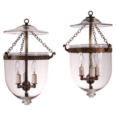 Pair of Petite Bell Jar Lanterns