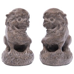 Pair of Petite Chinese Fu Dog Guardians