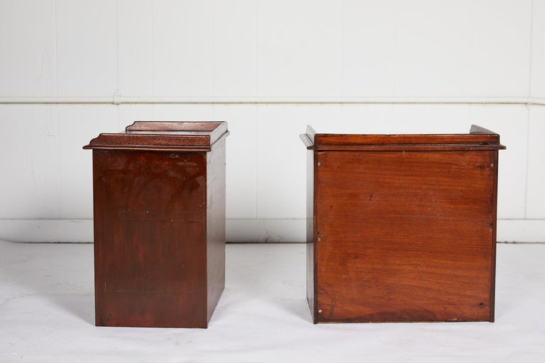 Pair of Petite English Mahogany Chests For Sale 5