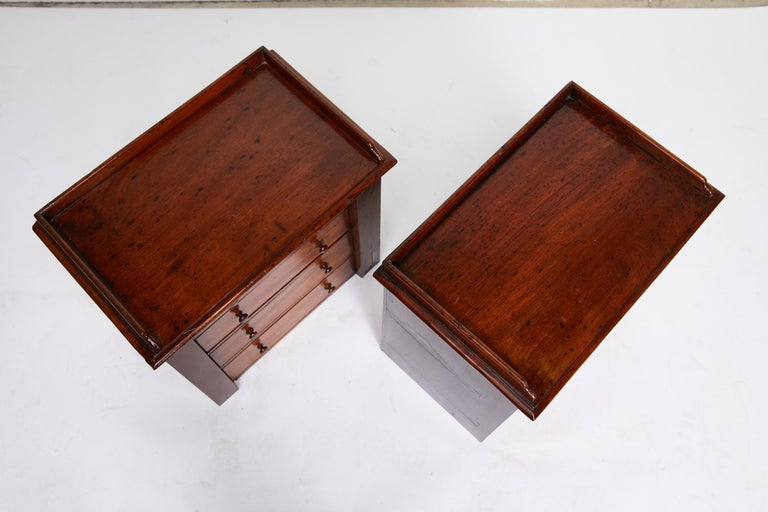 19th Century Pair of Petite English Mahogany Chests For Sale