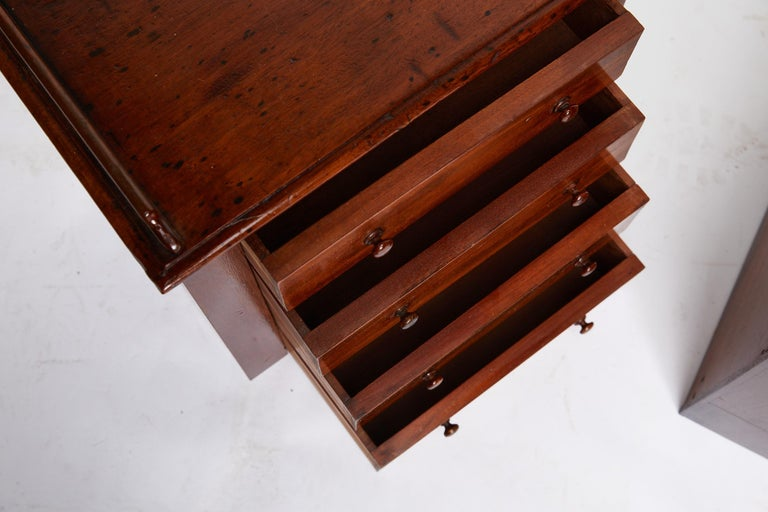 Pair of Petite English Mahogany Chests For Sale 1