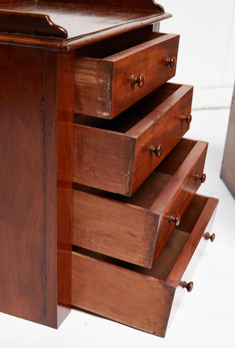 Pair of Petite English Mahogany Chests For Sale 2