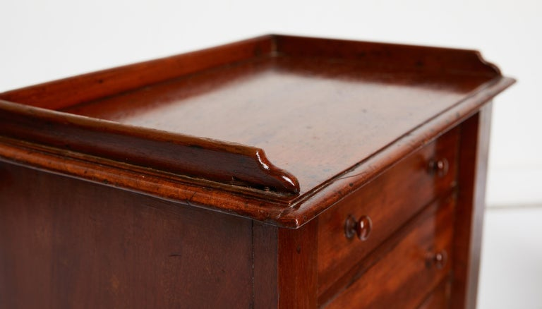 Pair of Petite English Mahogany Chests For Sale 4