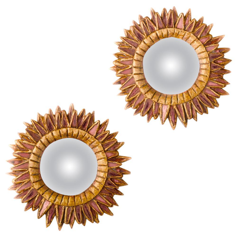 Pair of Petite Line Vautrin Style Mirrors, Contemporary