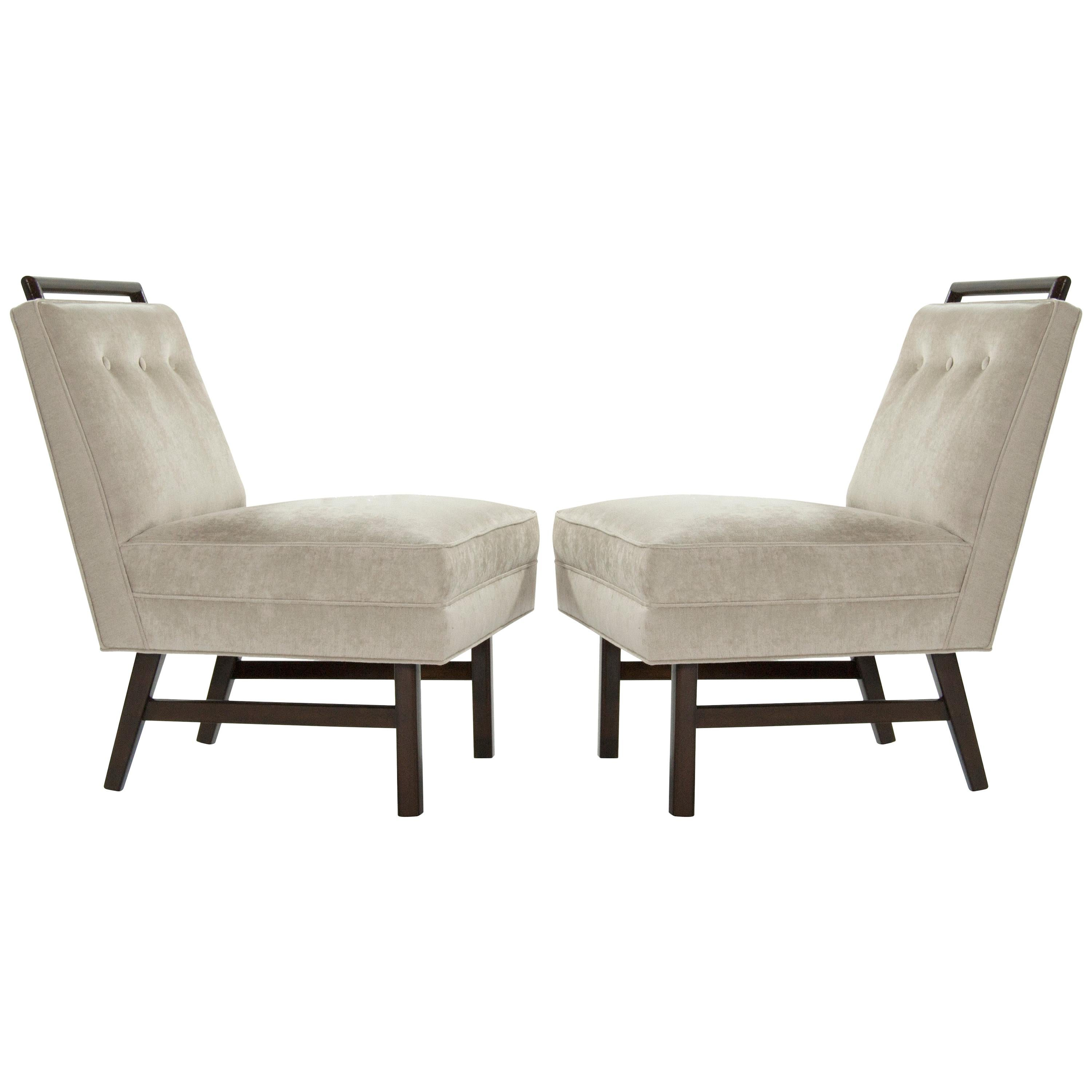 Pair of Petite Slipper Chairs in the Style of Harvey Probber