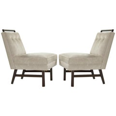 Pair of Petite Slipper Chairs by Harvey Probber