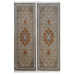 Pair of Petite Tabriz Runners
