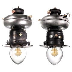 Pair of Petromax Donut Tank Lamps