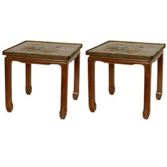Pair of Philip & Kelvin Laverne Bronze Side Tables