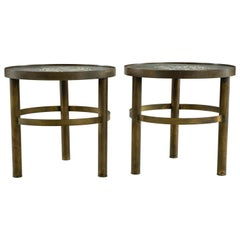 Pair of Signed Philip and Kelvin Laverne Occasional Tables