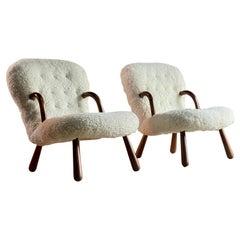 Pair of Philip Arctander 'Muslingestole' Clam Chairs