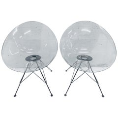 "Pair of Philippe Starck Clear Ghost ""Eros"" Chairs for Kartell"
