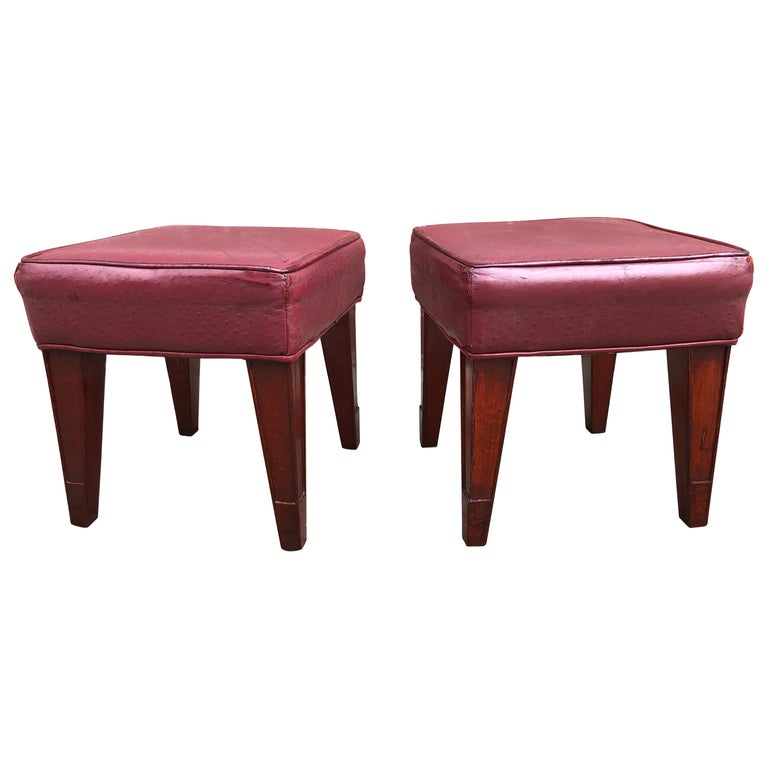 Pair of Philippe Starck Custom Stools from the Clift Hotel, San Francisco For Sale