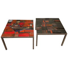 Early Pair of Pia Manu Side Tables, 1960s