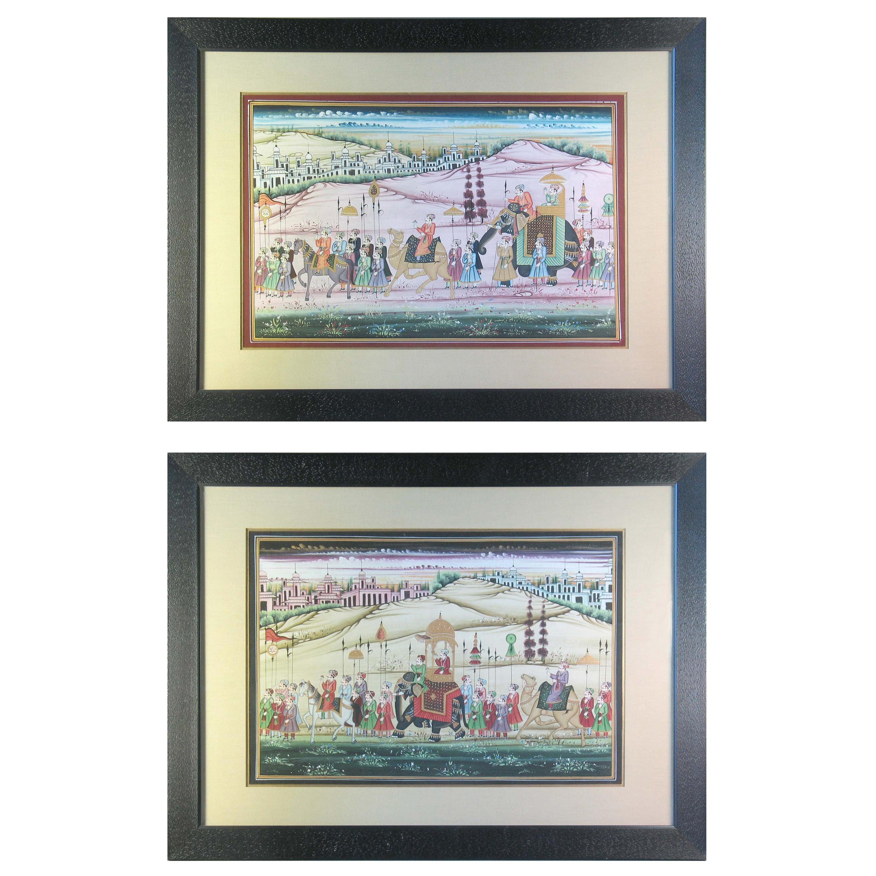 Pair of Pichwai Paintings Rajasthan, Contemporary