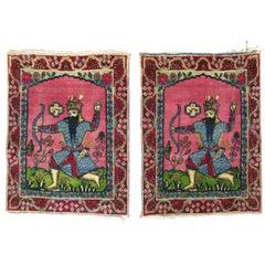 Pair of Pictorial Persian Rugs