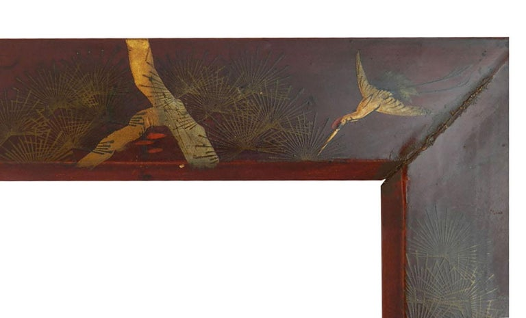 Asian Pair of Picture Frames Chinoiserie Laquer, 20th Century For Sale