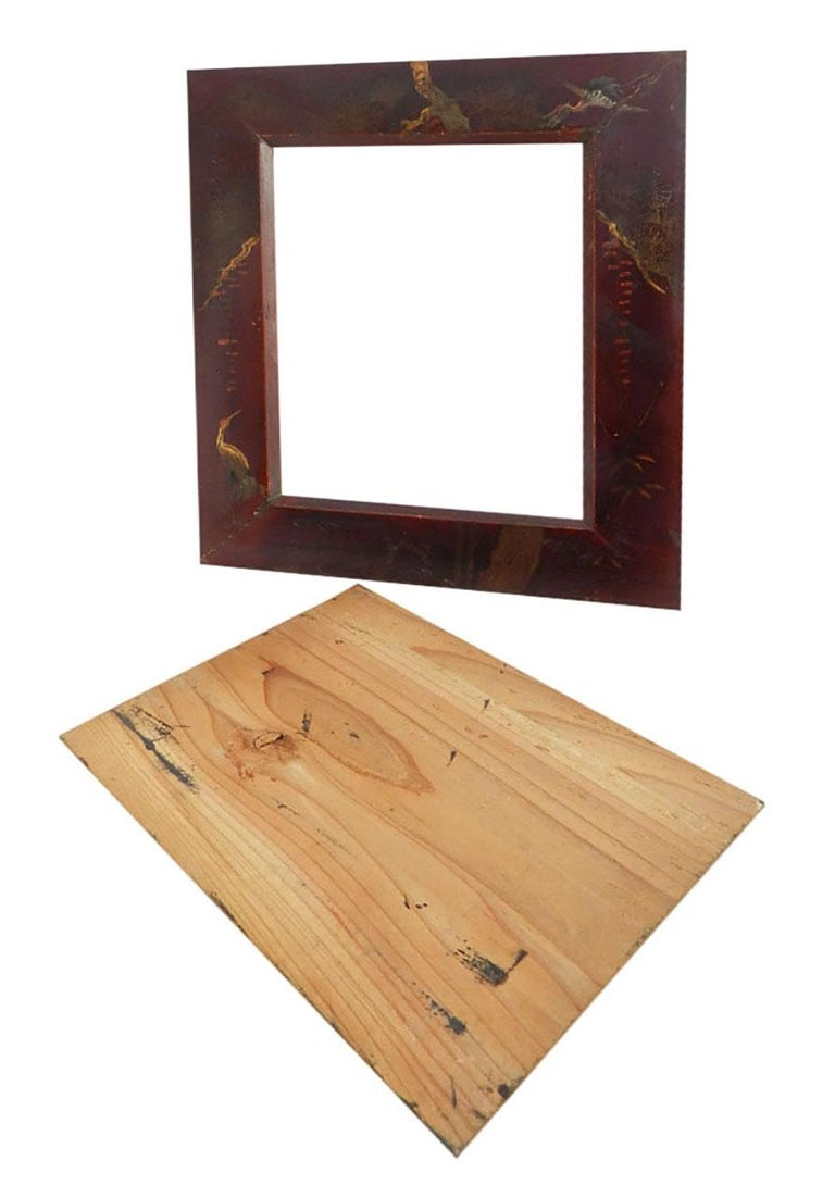 Pair of Picture Frames Chinoiserie Laquer, 20th Century For Sale 1