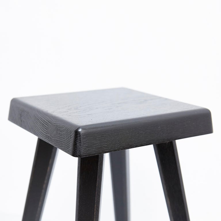 Pair of Pierre Chapo Special Black Edition Stools 4