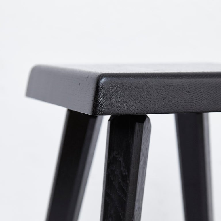 Pair of Pierre Chapo Special Black Edition Stools 10