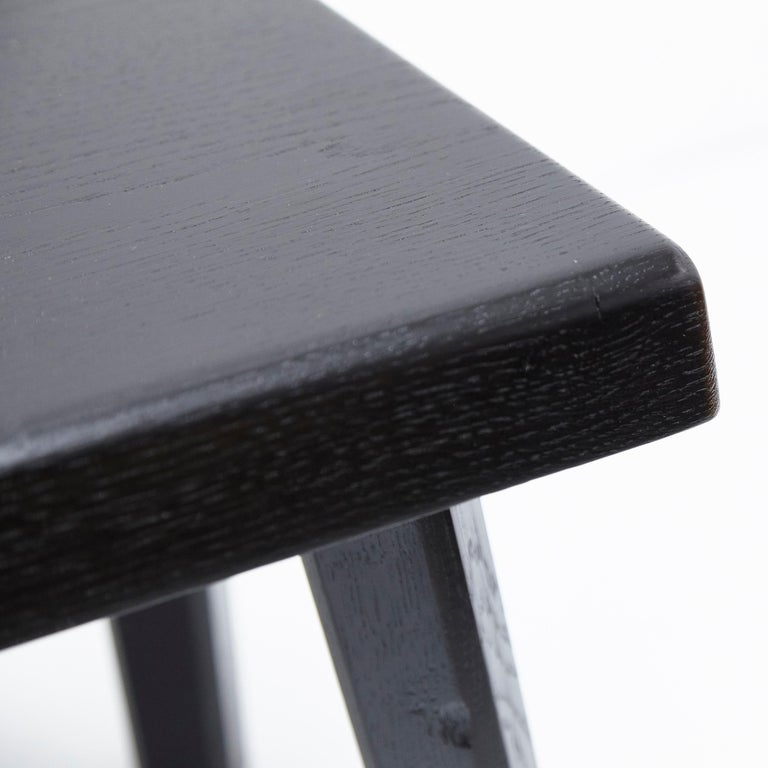 Pair of Pierre Chapo Special Black Edition Stools 11