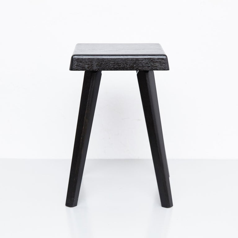 Pair of Pierre Chapo Special Black Edition Stools In Good Condition In Barcelona, Barcelona