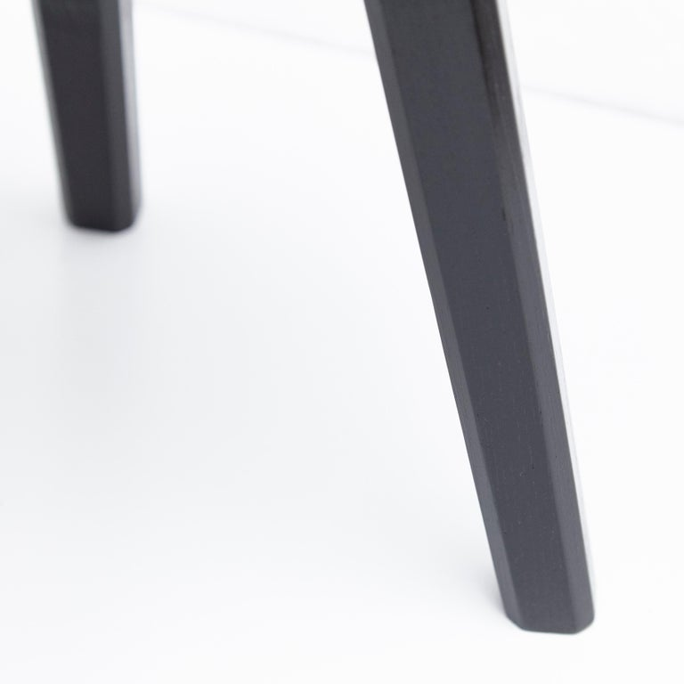 Wood Pair of Pierre Chapo Special Black Edition Stools