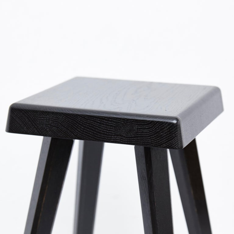 Pair of Pierre Chapo Special Black Edition Stools 2