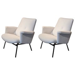 Pair of Pierre Guariche Armchairs