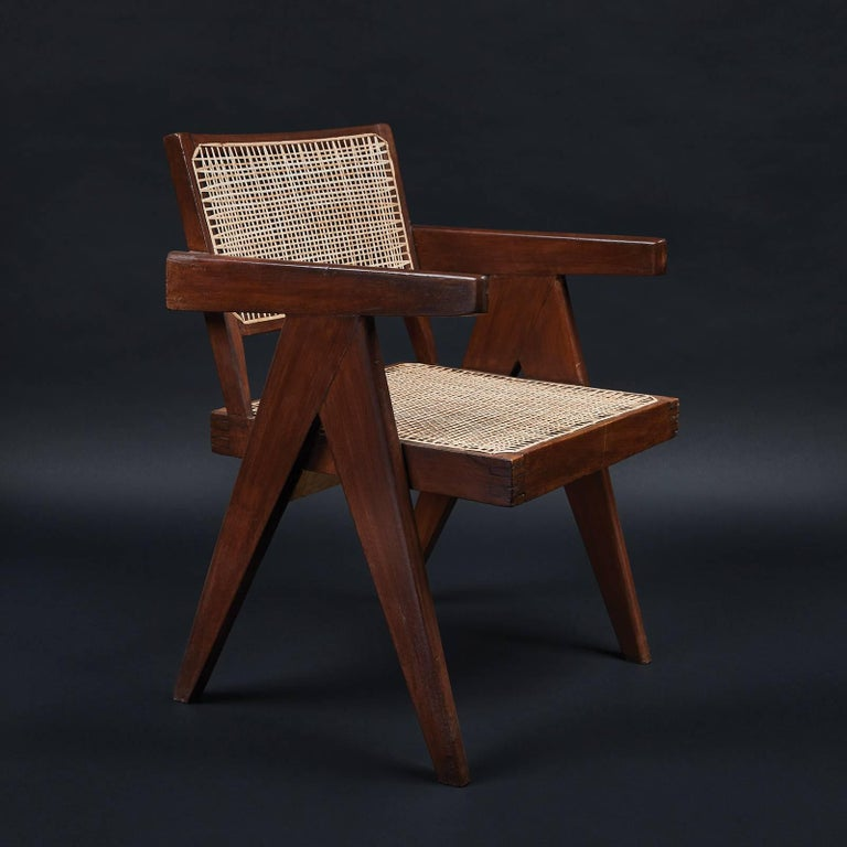 Pair of office chairs from the administrative offices of Chandigarh (PJ-SI-28-B).