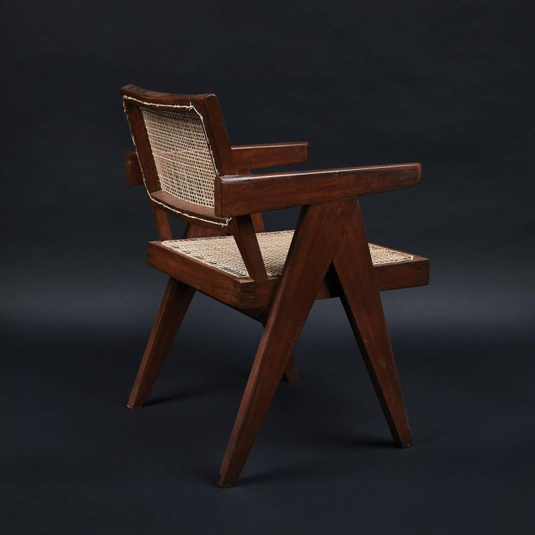 Mid-Century Modern Pair of Pierre Jeanneret Office Chairs  For Sale