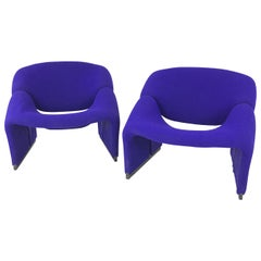 Pair of Pierre Paulin 1970s Groovy Chairs