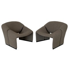 Pair of Pierre Paulin F580 1st Edition Groovy Lounge Chairs for Artifort