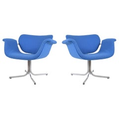 Pair of Pierre Paulin Lounge Chairs in Maharam Fabric