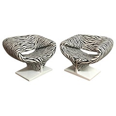 """Pair of Pierre Paulin """"Ribbon"""" Chairs, Model F582 for Artifort, Netherlands 1966"""
