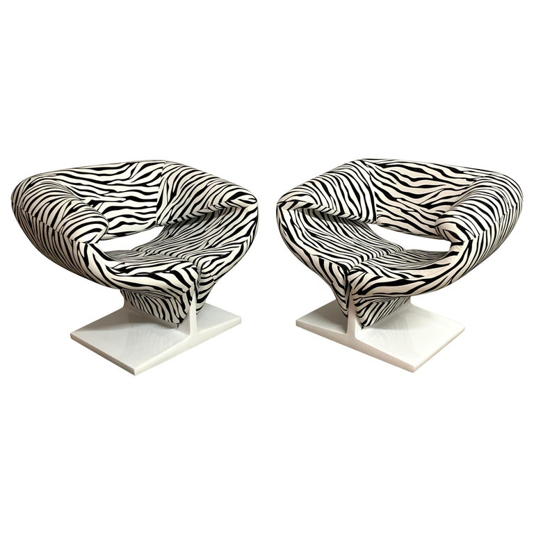 """Pair of Pierre Paulin """"Ribbon"""" Chairs, Model F582 for Artifort, Netherlands 1966 For Sale"""