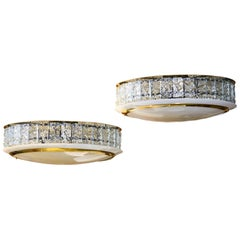 Pair of Pietro Chiesa Style Chandeliers