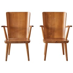 Pair of Pine Chairs by Goran Malmvall for Karl Andersson & Söner, Sweden