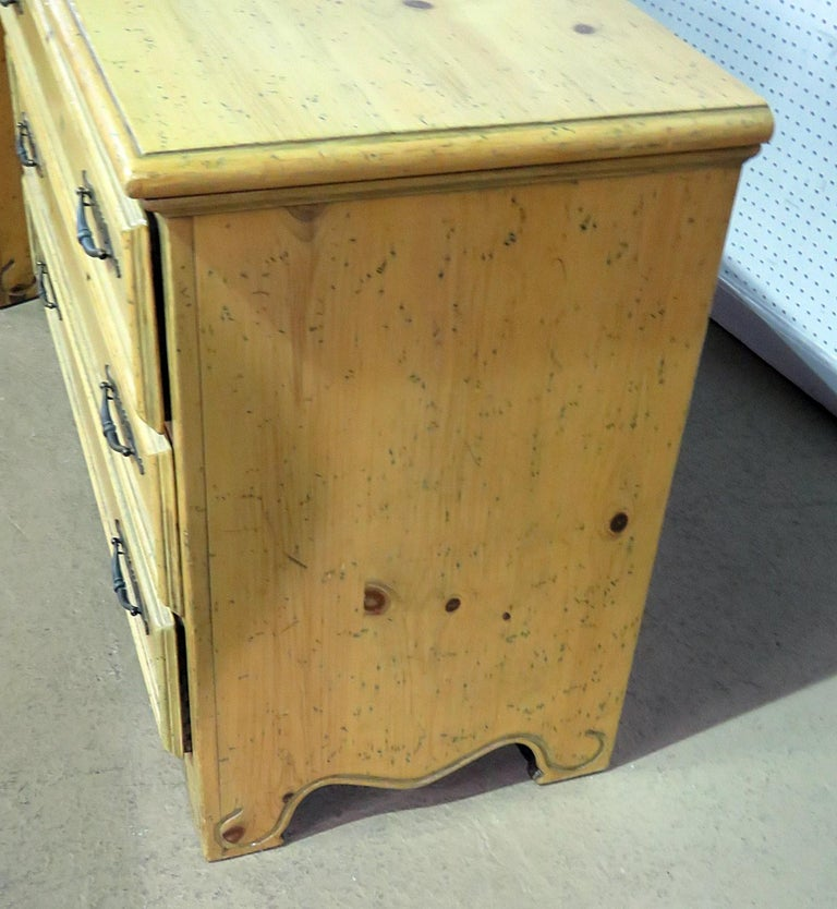 Pair of English Country Pine Dresser Commode Chests C1930s For Sale 1