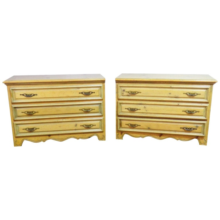 Pair of English Country Pine Dresser Commode Chests C1930s For Sale