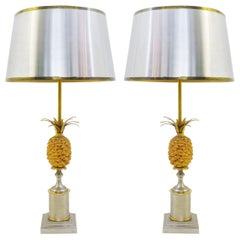 Pair Of Pineapple Lamps Jansen Style