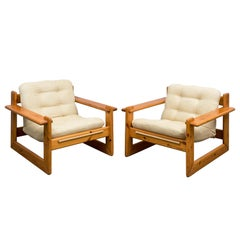 Pair of Pinewood Chalet Lounge Chairs