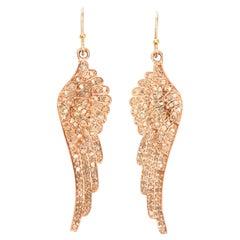 Pair of Pink Angel Wings Earrings