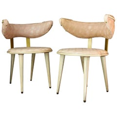 Pair of Pink Chairs by Umberto Mascagni, Italy, Mid-20th Century