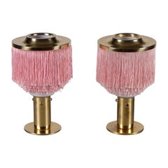 Pair of Pink Hans-Agne Jakobsson Table Lamps Model B-145, 1960s